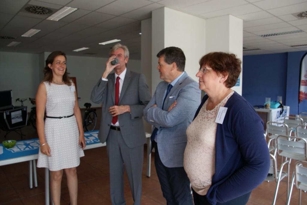 Burgemeeste van Mechelen komt het project Ecokoeriers starten.